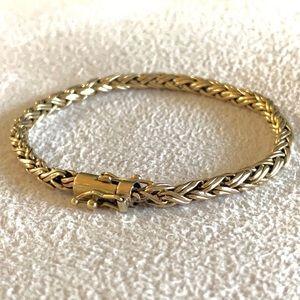 Tiffany & Co. double woven 14k vintage bracelet
